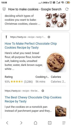 google amp symbol in SERP